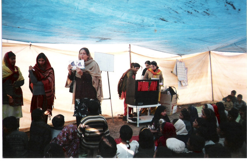 News of the Alif Laila team's work following the earthquake of 2005