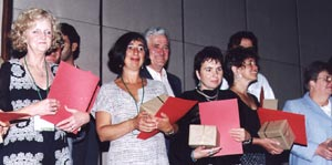 ... and Krisztina Rényi (Hungary) and translators Marie-Louise Gay (Canada) ...